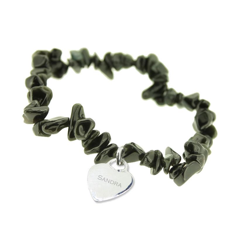 Bracelet obsidienne personnalisé - 1237